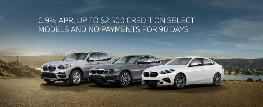 0.9% APR, UP TO $2,500 CREDIT ON SELECT MODELS AND NO PAYMENTS FOR 90 DAYS