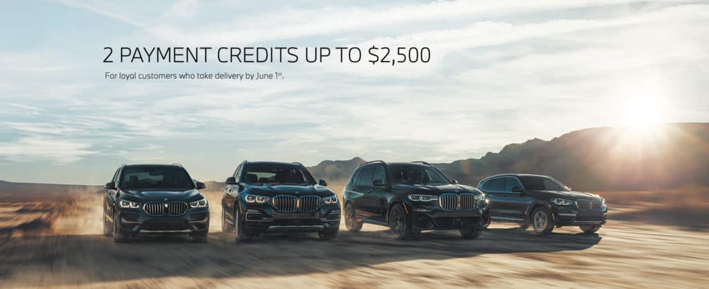 2 PAYMENT CREDITS UP TO $2,500