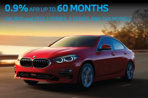 0.9% APR on Select BMW Models