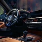 2020 bmw x7 brown interior close up