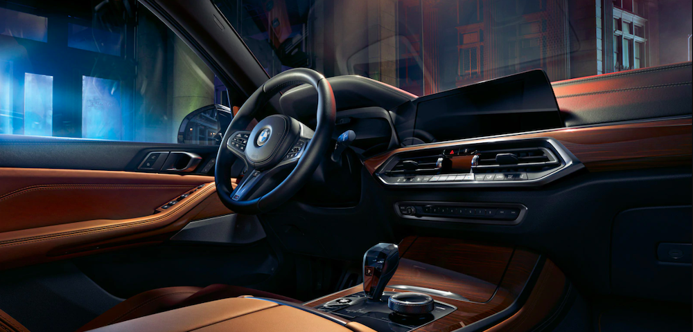 2020 bmw x7 brown interior close up