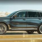 2021 bmw x7 black exterior parked