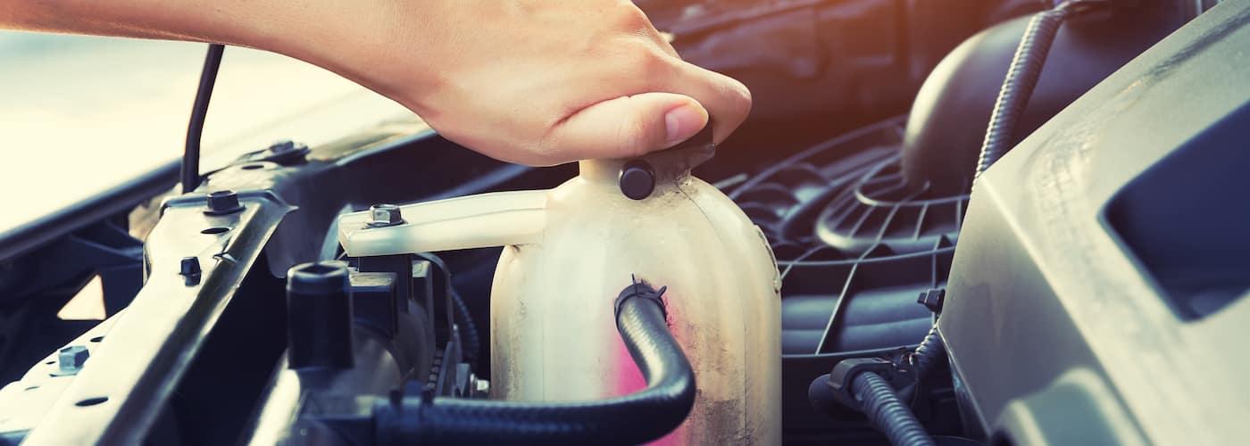 checking car coolant