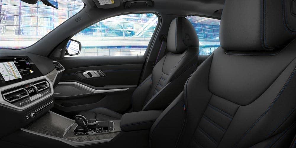 2021 bmw 3 series black leather interior