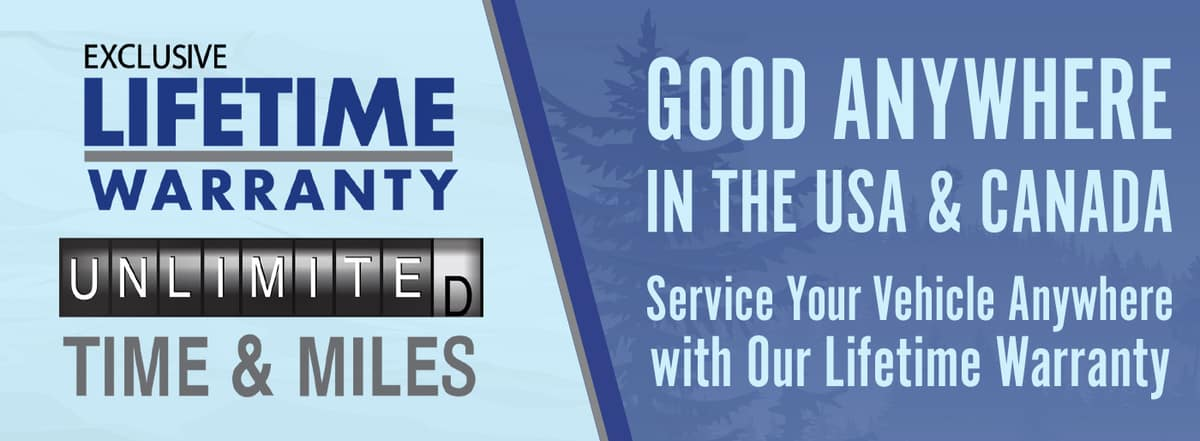 Get an exclusive Lifetime Warranty with unlimited time and miles in Madison TN