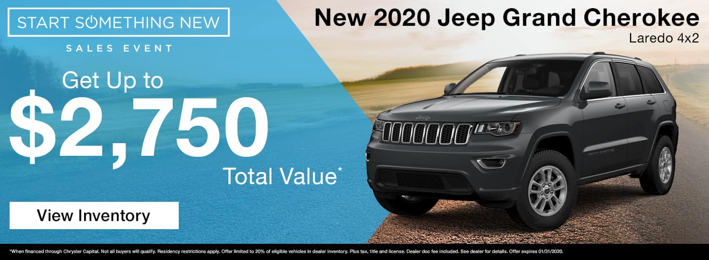 Get up to $2,750 total value on a new 2020 Jeep Grand Cherokee in Madison TN