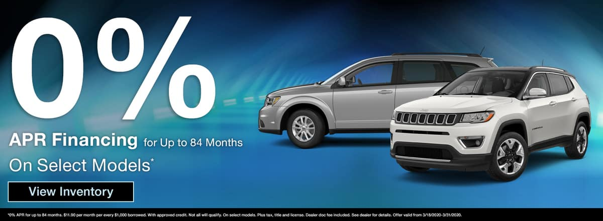 Get 0% APR financing for up to 84 months on select models in Madison TN