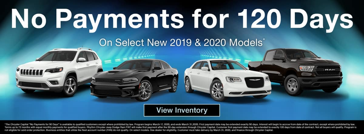 Make no payments for 120 days on select new 2019 and 2020 models in Madison TN