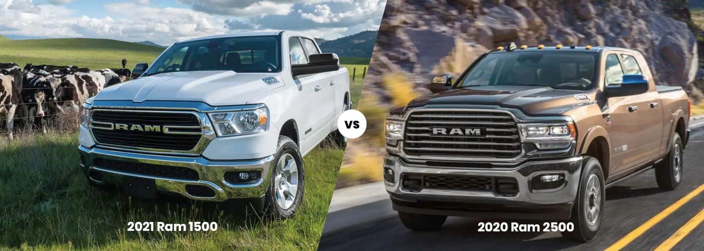 2021 Ram 1500 vs. 2020 Ram 2500