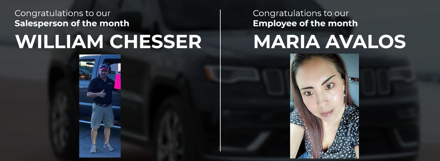 Employee and Salesperson of the month