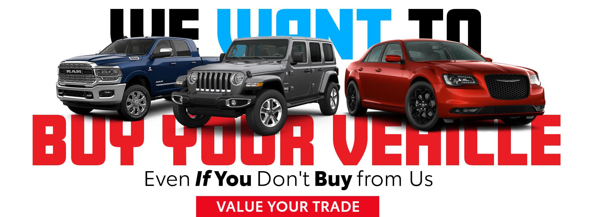 Value Your Trade - We Want to Buy Your Vehicle at Bonham Chrysler in Texas