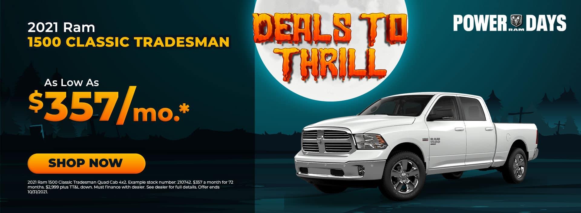 2021 Ram 1500 Classic Offer at Bonham Chrysler in Texas
