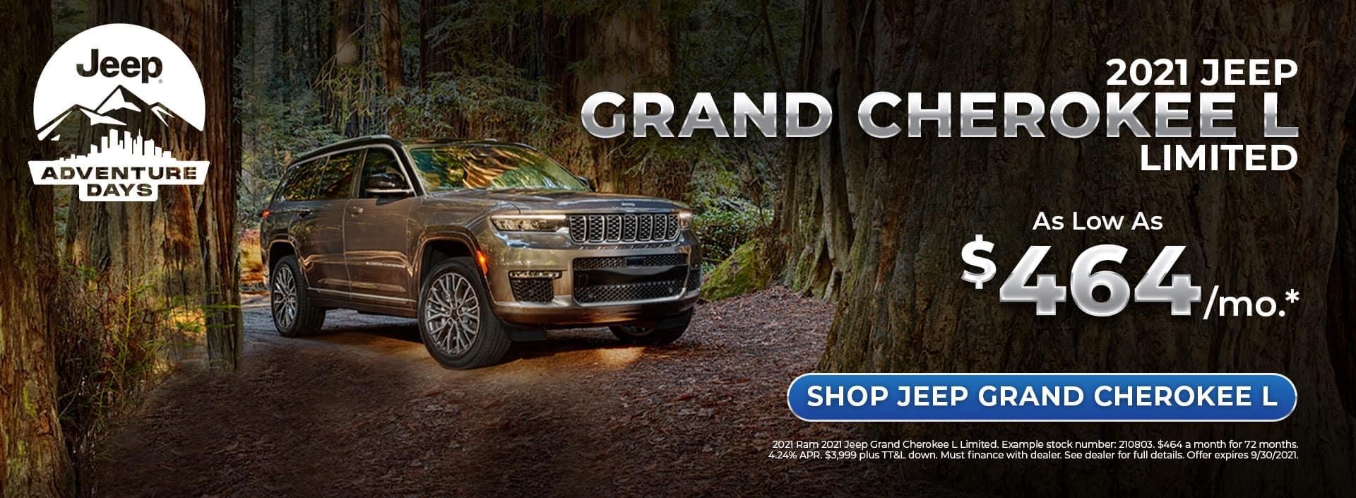 2021 Jeep Grand Cherokee L Offer at Bonham Chrysler in Texas