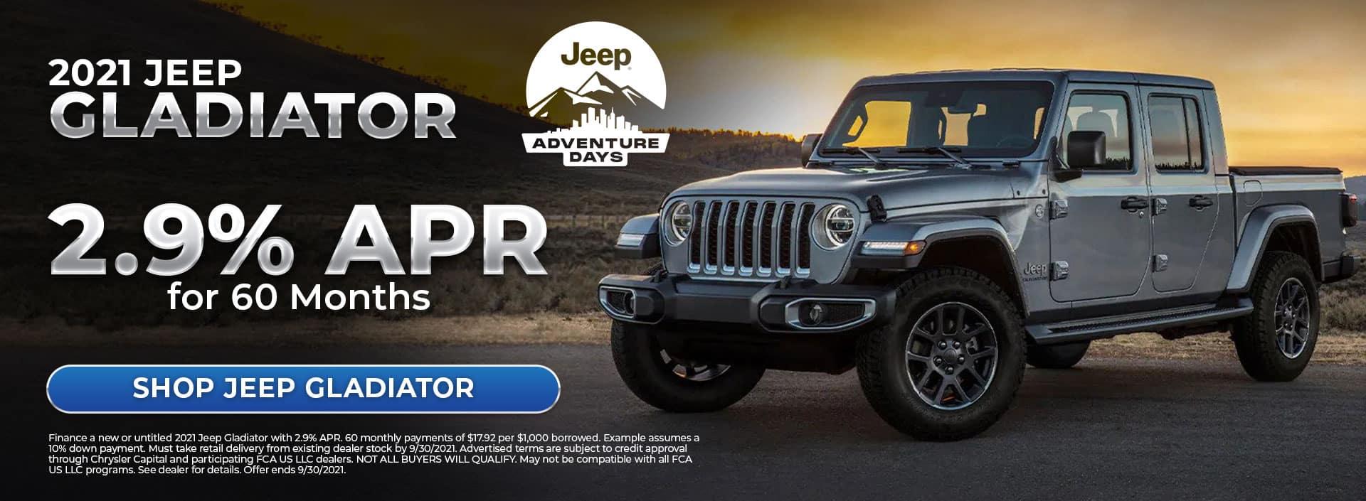 2021 Jeep Gladiator Offer at Bonham Chrysler in Texas