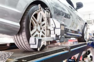 Vehicle Getting Wheel Alignment Service