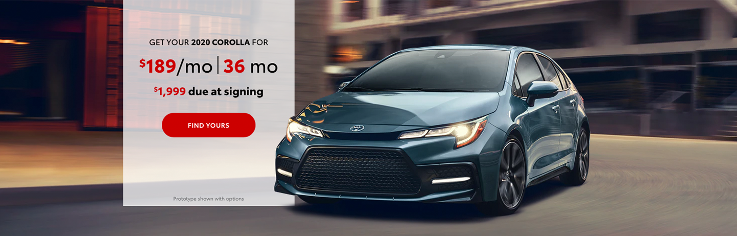 Toyota Corolla Lease Special Offer in Yakima, WA