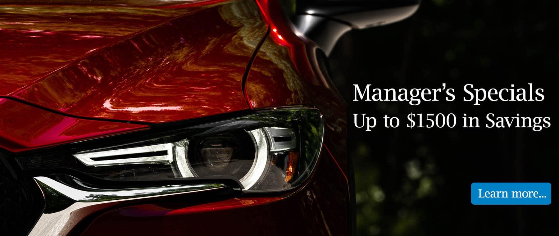 Mazda home page slider