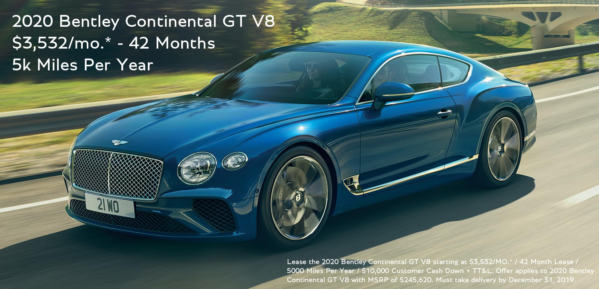 2020 Bentley GT Lease