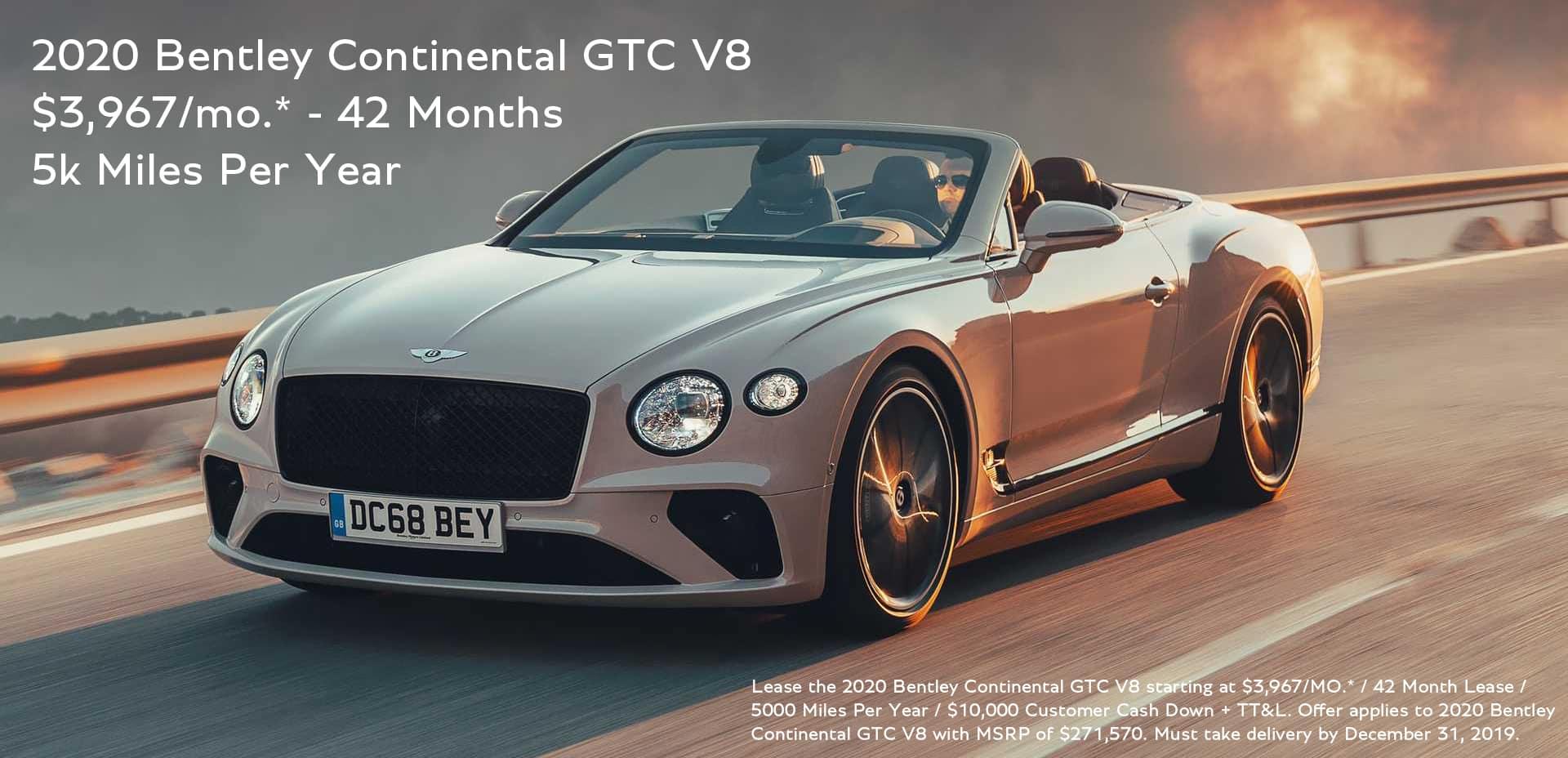 2020 Bentley GTC Lease width=