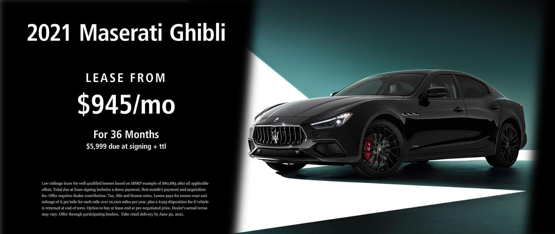 2021 Maserati Ghibli Lease