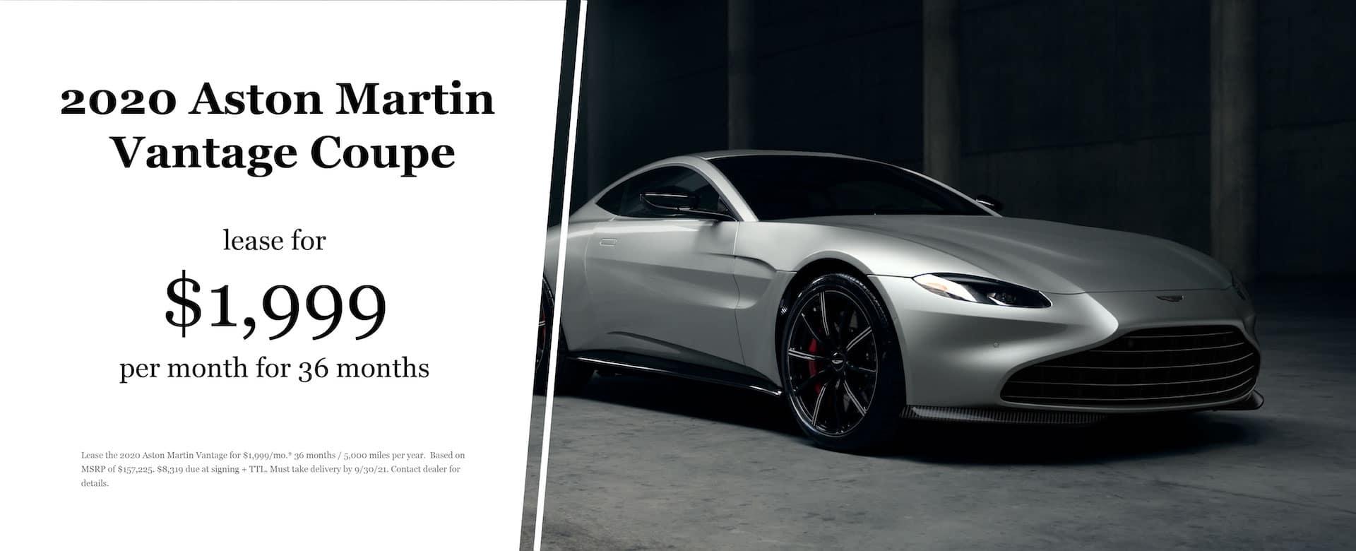 2021 Aston Martin Vantage Lease Offer