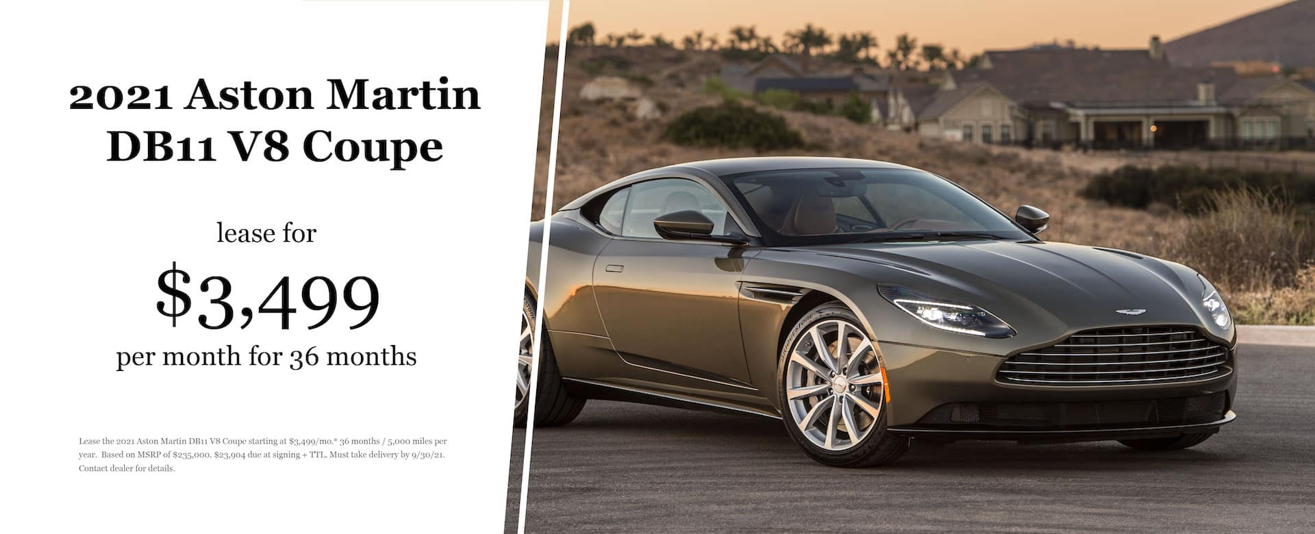 2021 Aston Martin DB11 Lease Offer