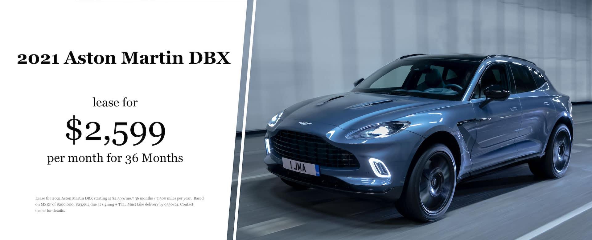 2021 Aston Martin DBX Lease Offer