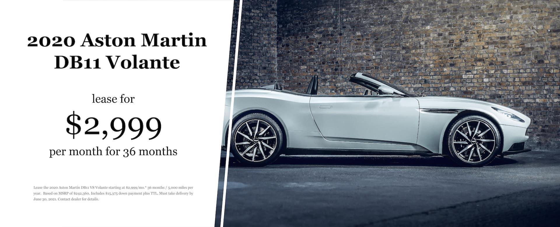 2020 Aston Martin DB11 Volante Lease