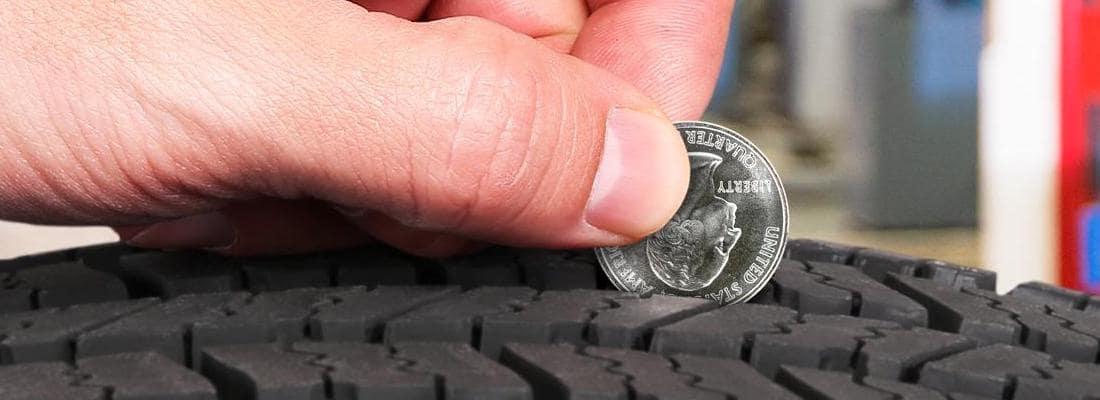 Tire with quarter