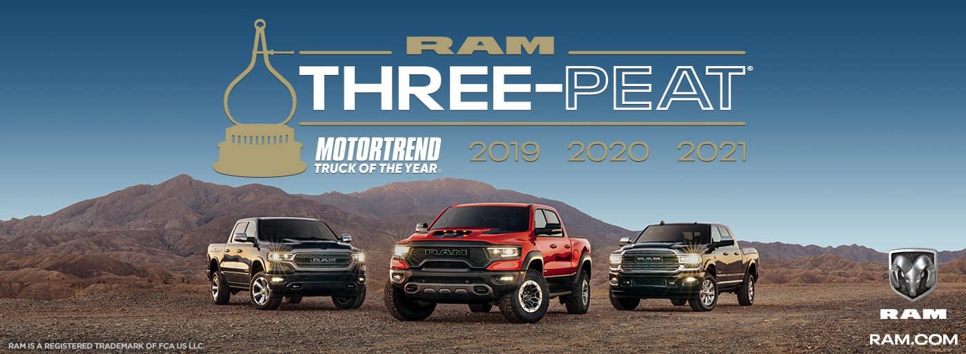 Ram Truck 3 Peat Winner