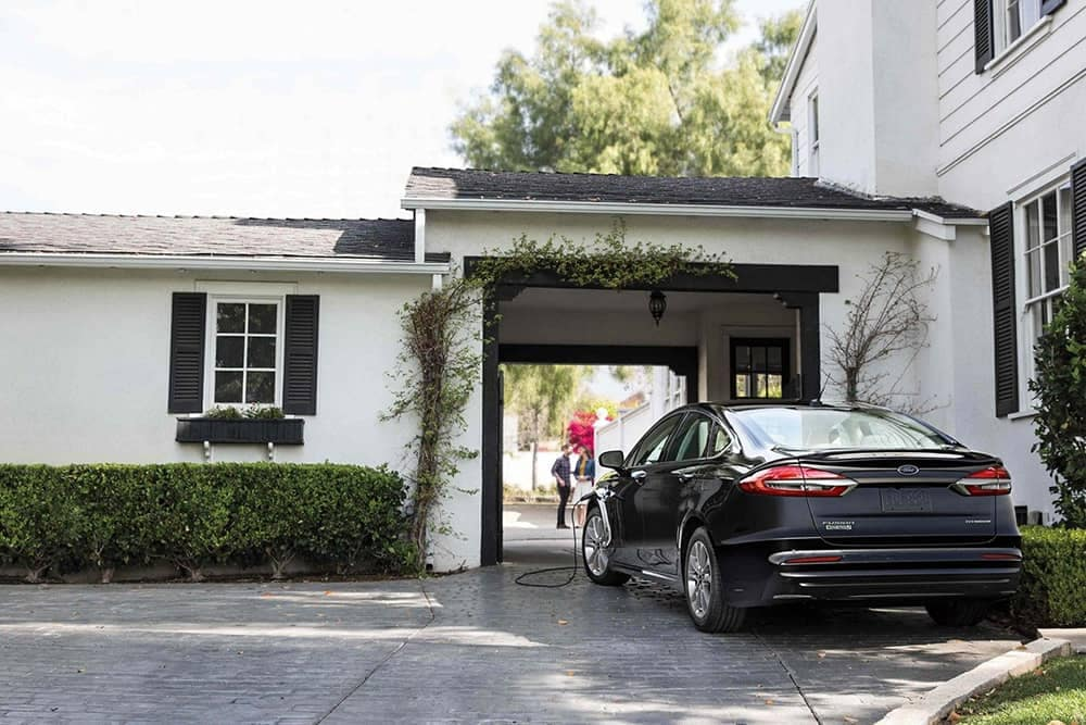 2019 Ford Fusion In Driveway