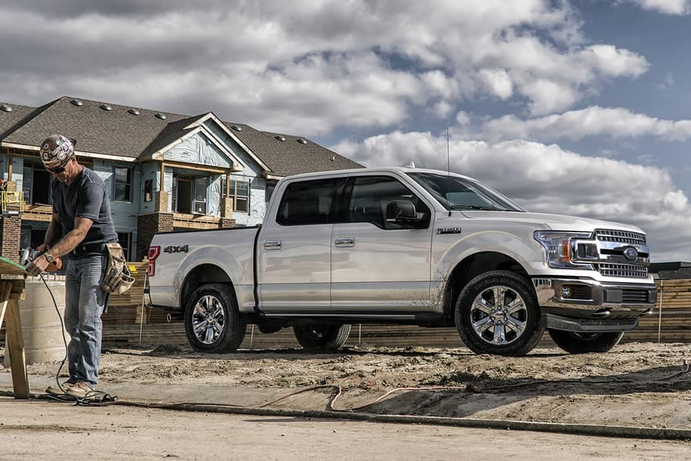 2020 Ford F-150 at jobsite