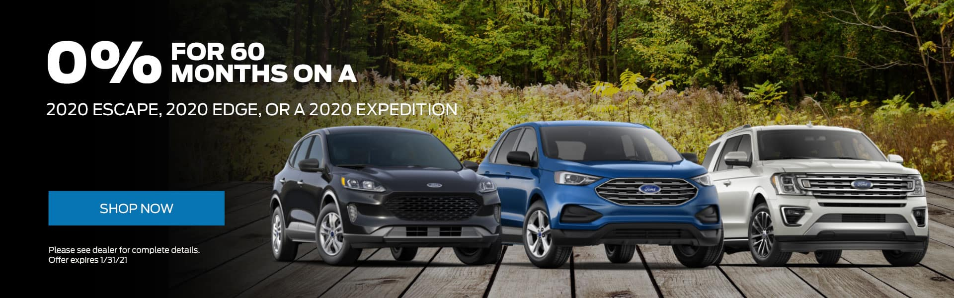 2020 Escape, 2020 Edge, or a 2020 Expedition