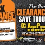 Black & Orange Pre-Owned Tag Sale or 0% Annual Percentage Rate on New Harleys
