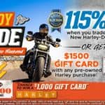 $1500 Gift Card on Pre-Owned Purchase or 115% Kelley Blue Book Value on Trade