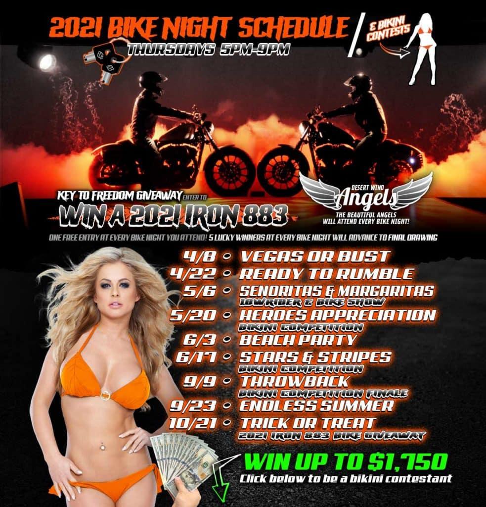 DWHD Bike Night Schedule