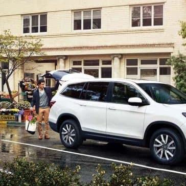 2019 Honda Pilot In Parking Lot