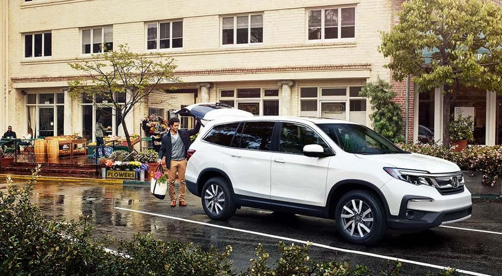 2019 Honda Pilot In Parking Lot