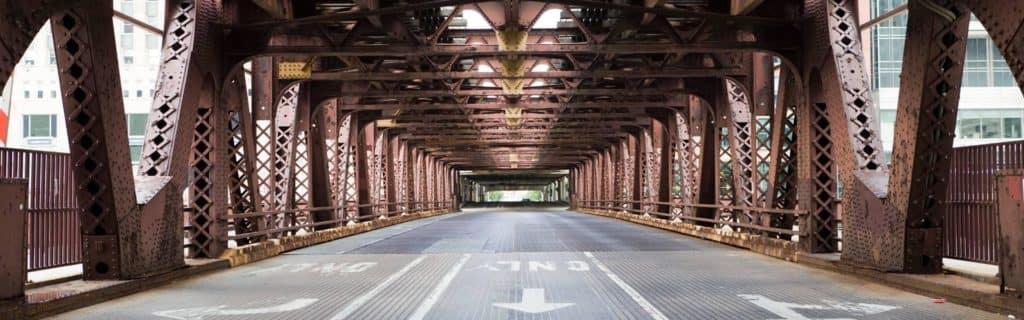 Chicago city bridge
