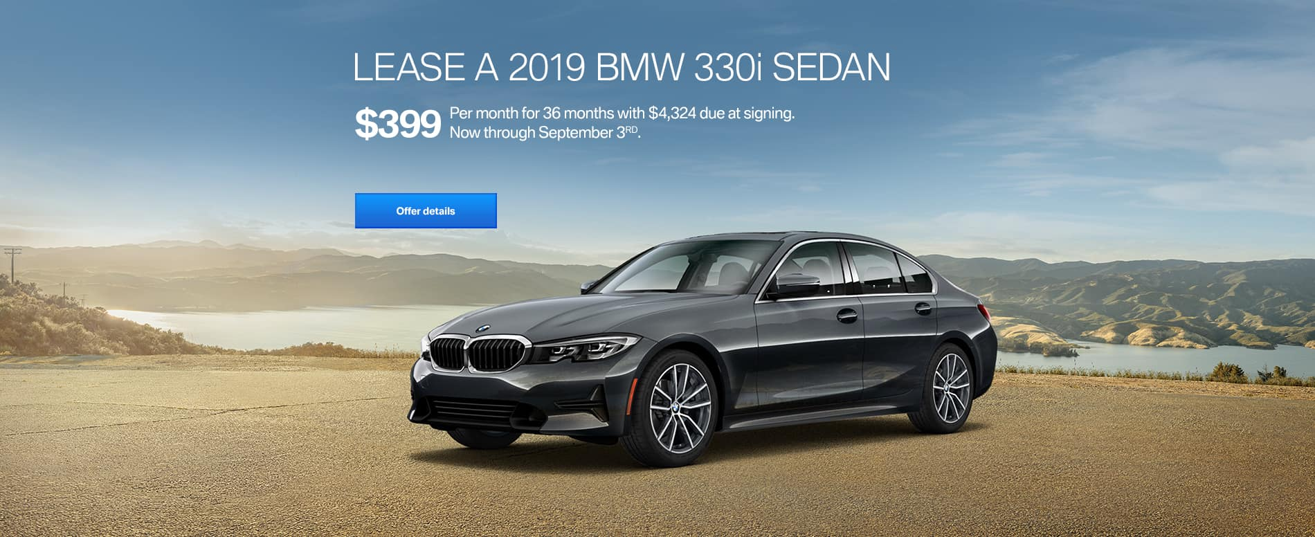 lease a 330i $399/mo for east bay bmw