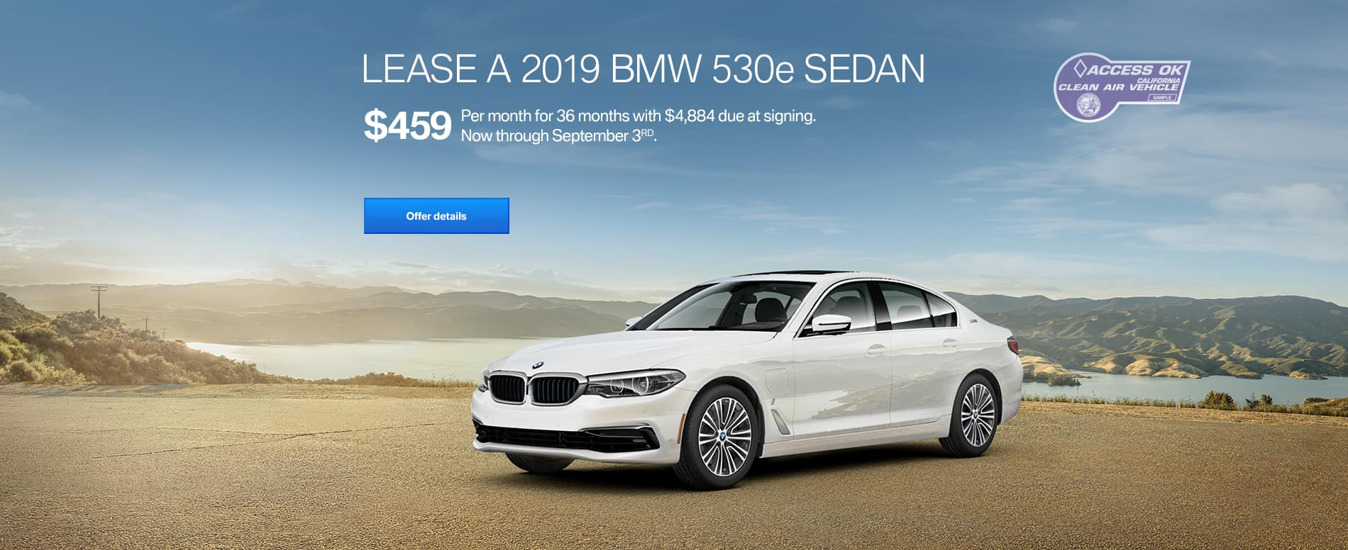 bmw 530e $459 per month lease offer east bay bmw
