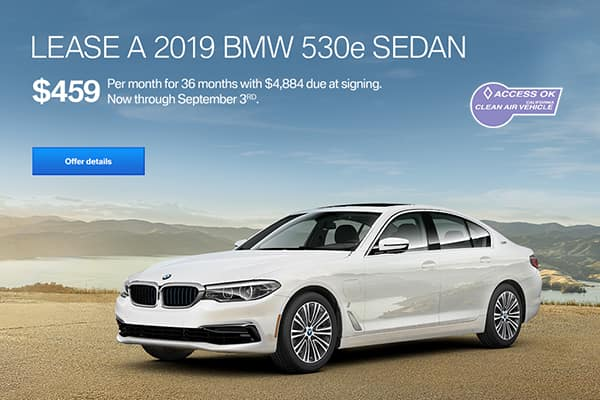 lease a bmw 530e for $459 per month at east bay bmw