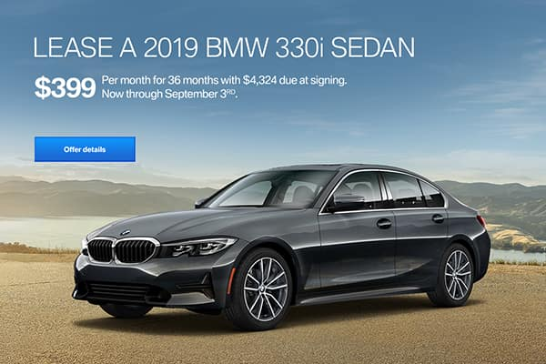lease a 330i for $339/mo at East Bay BMW