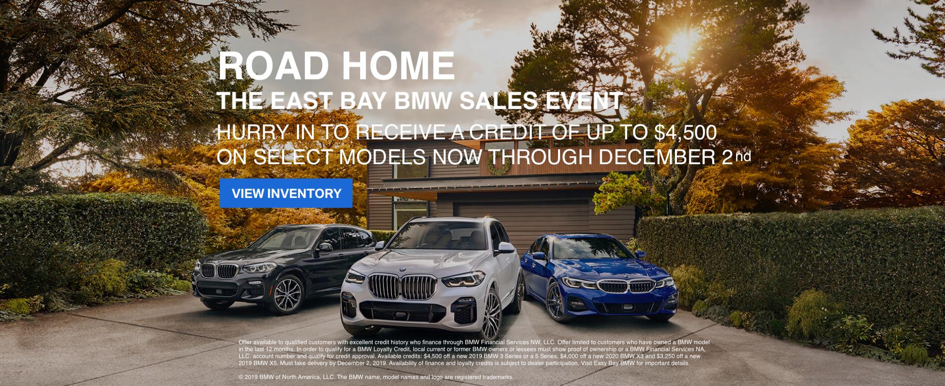 east bay bmw road home sales event november 2019