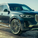2020 bmw x7 black exterior parked outside