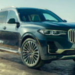 2020 bmw x7 black exterior parked image