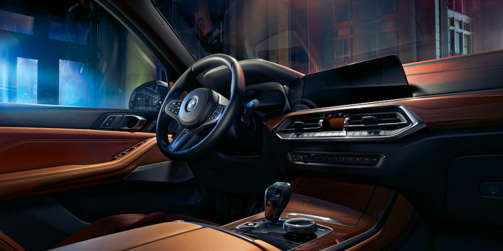 2020 bmw x5 black and brown interior dashboard