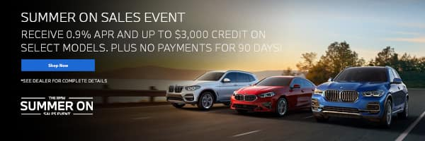 summer on sales event going on now at East Bay BMW