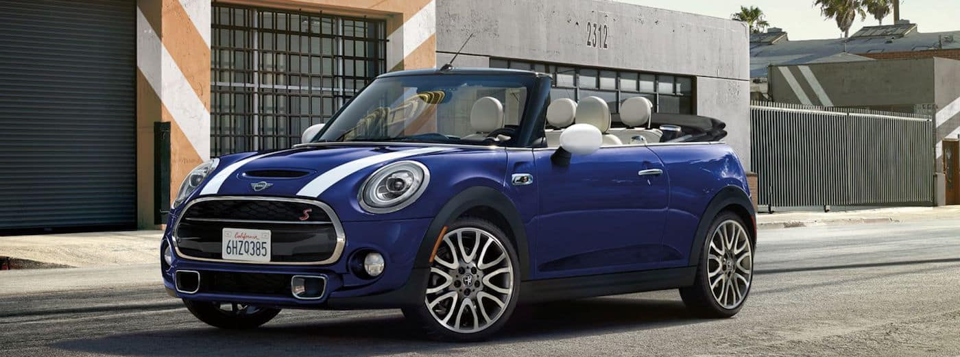 MINI Cooper Convertible driving on a city road