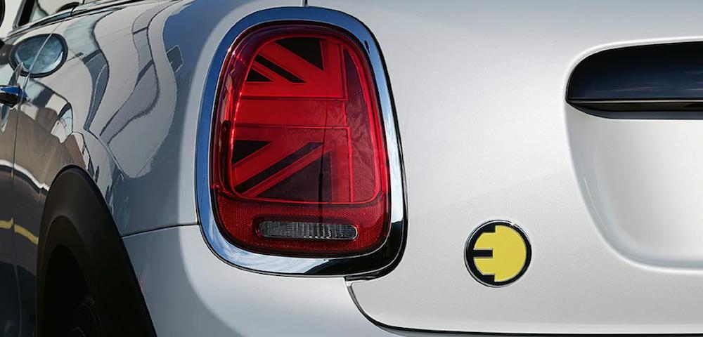 2022 mini cooper electric back rear corner
